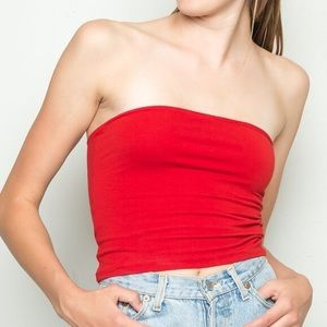 Brandy Melville Red Tube Top